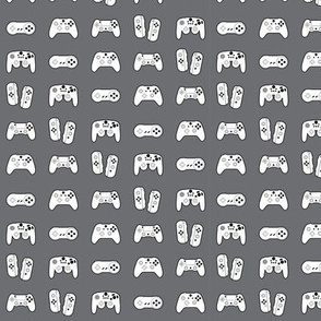 Game Controllers on Grey