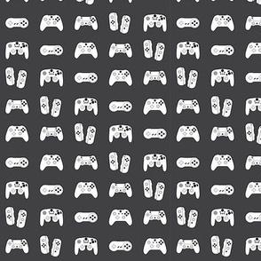 Gamer Controllers on Medium Grey