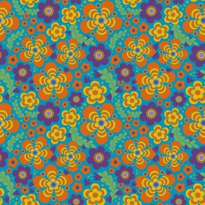 Groovy Blooms multicolored