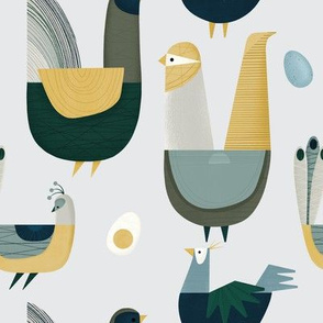Large Birdies and Eggs - Large Scale