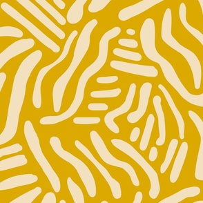 Abstract Lines - Mustard - Large Scale