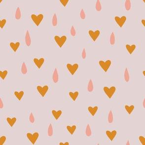 Hearts + Raindrops - gold