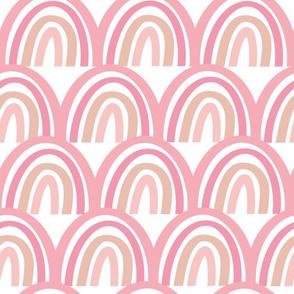Rainbow piles - pink