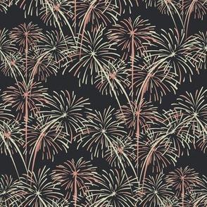 Coral Pink and Cream Fireworks on Gunpowder