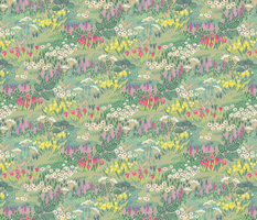 floral meadow green