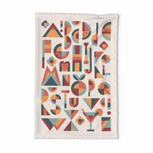ABC tea towel