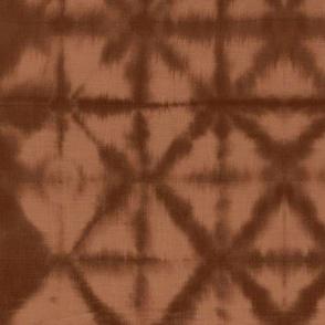 Soft tie dye boho texture summer shibori traditional Japanese neutral cotton copper sunset orange brown