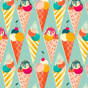 summer ice cream cones // medium scale