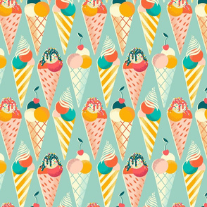 summer ice cream cone // small scale