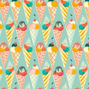 summer ice cream cone // small scale