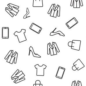Icons set of clothes pattern