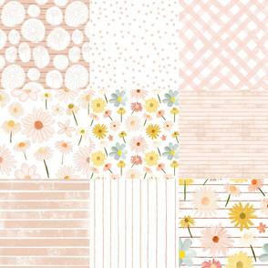 daisy quilt blush