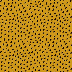 Ocelot print mustard