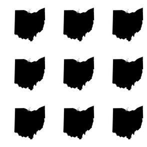"6"" Ohio silhouette - black and white"
