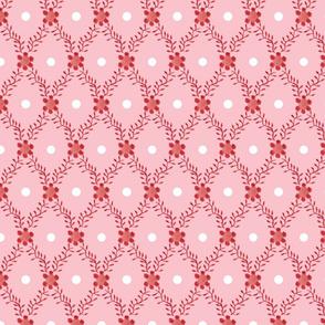 1830s Grande Strawberry Sprigs Dots