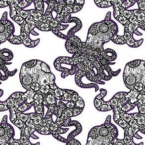 Octopus pattern-Purple