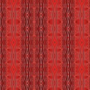 Persian Red Geometric Waterfall - small