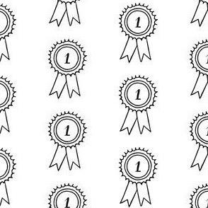 Winners' rosettes