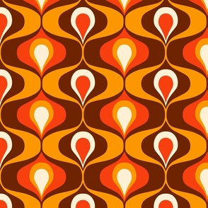 Retro party jumbo polka dots colorful sage green Wallpaper Fabric