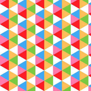 Candy party colorful hexagons geometric Wallpaper Fabric
