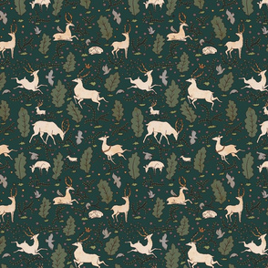the running of the deer — green