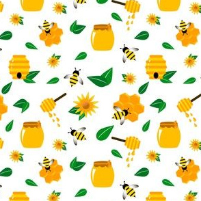 Bees, beehive, honey.