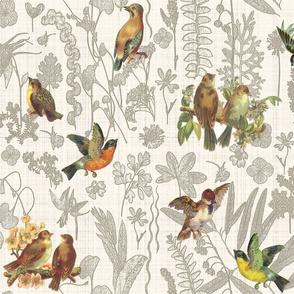 birds linen