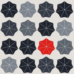 Lonely Red Umbrella