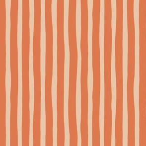 Circus summer stripes modern minimal irregular strokes orange beige sand