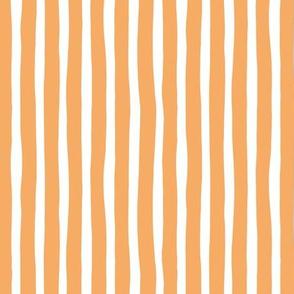 Circus summer stripes modern minimal irregular strokes sunny orange