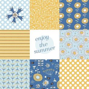 enjoy the summer cheater quilt