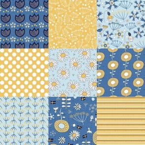 swedish summer flowers cheater quilt