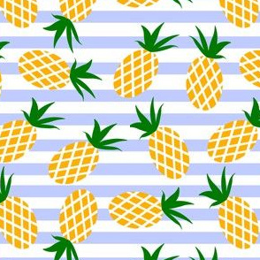 Pineapples on a striped background
