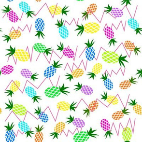 multi-colored pineapples