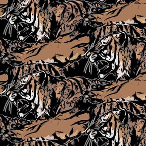 Large Fierce Tigers