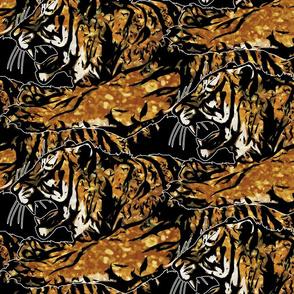 Large faux glitter Fierce Tigers