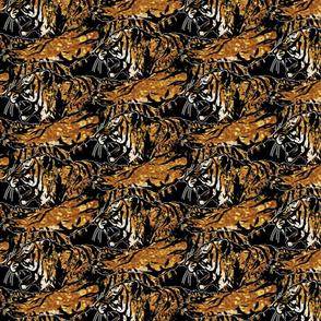 Medium faux glitter Fierce Tigers