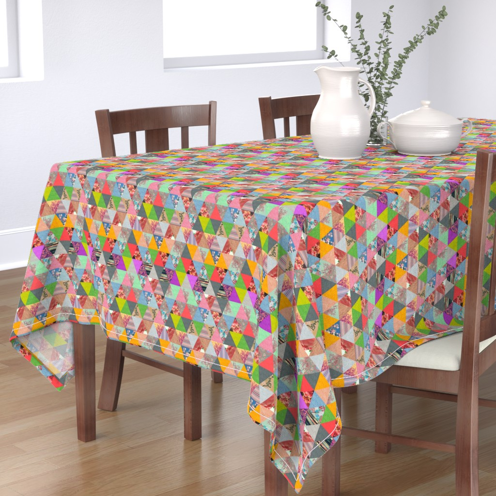 Bantam Rectangular Tablecloth featuring Lost in â–² by biancagreen