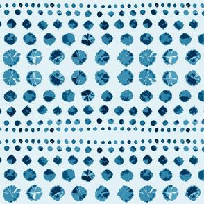 Shibori Abstract on Blue