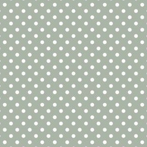 Polka Dots (Green aab5a7)