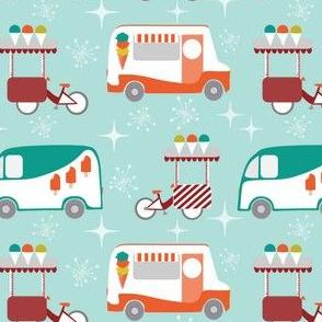 icecream trucks mid century modern