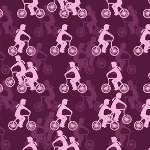 Cycle girls - plum and pink