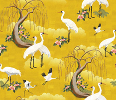 Whooping Cranes Gold