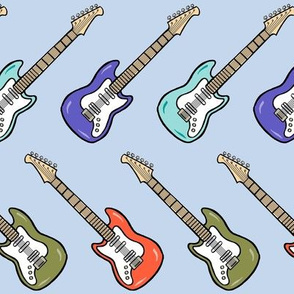 electric guitar - light blue