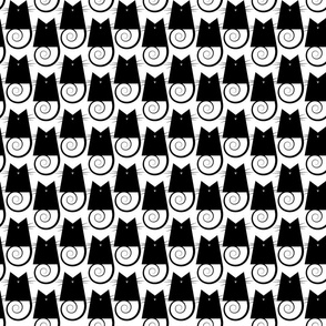 cats - figaro cat black and white - geometric cats
