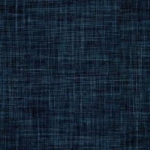 Dark Denim Blue Hessian Linen Texture