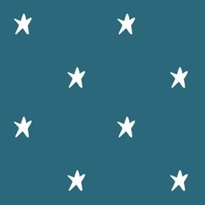 Blue Hand drawn Stars