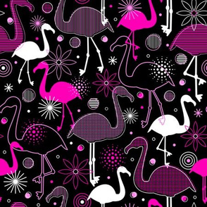 Flamingo Flock (Black)