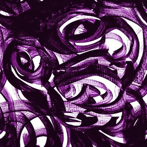 Violet purple small scale white modern circles
