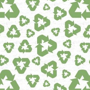 Peace. Love. Recycle. (1/2 scale) | Recycle symbol